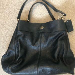 Coach soft leather Dalton 31 black bag